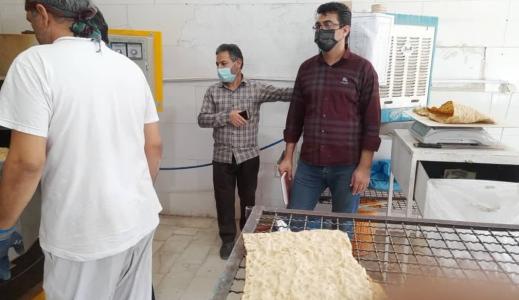 گشت مشترک و بازرسی از واحدهای صنفی نانوایی در شهرستان آران و بیدگل