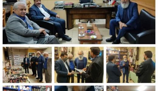 حضور هنرمند مردمی دیار نصف جهان، جناب آقای استاد حسن اکلیلی در محل مدیریت بازرسی و نظارت اصناف استان